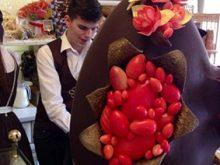 На писанку використали 20 кілограмів шоколаду