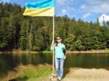 Прапор України замайорів на острівці Синевира