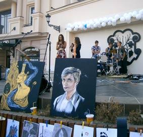 На площі Театральній показали молоде мистецтво