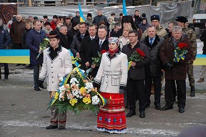 На Закарпатті відзначили День соборності України та річницю створення області