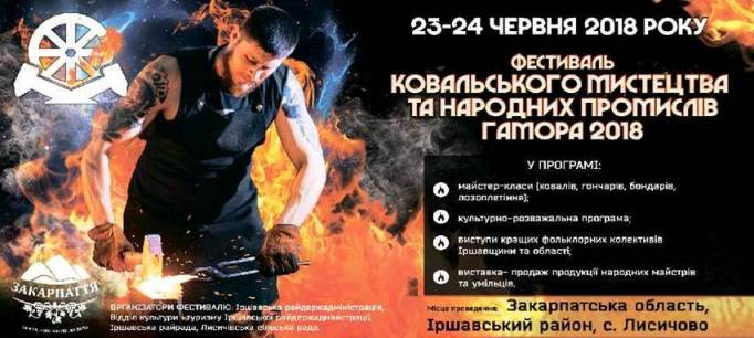 У вихідні на Іршавщині пройде фестиваль ковальського мистецтва «Гамора»