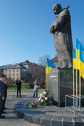 В Ужгороді вшанували пам'ять Великого Кобзаря