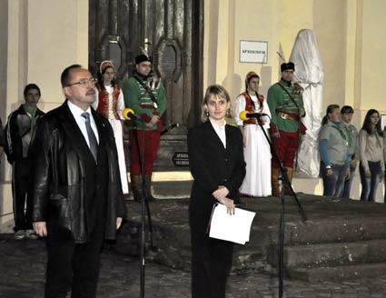 В Ужгородському замку встановили погруддя  його колишньої власниці