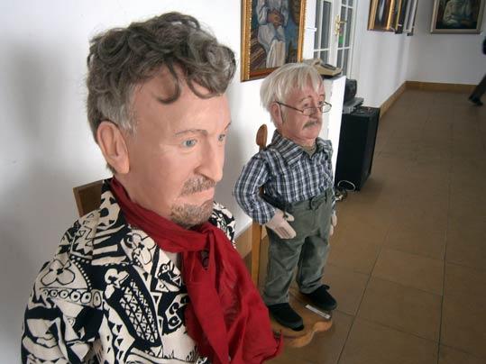 Відомих художників виставили у скульптурах