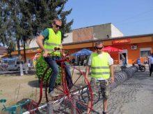 Відкрито пам'ятник виноградівському велосипедисту