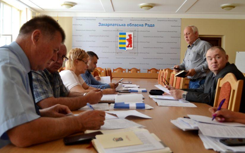 Питання надання спецдозволів на користування надрами Закарпаття обговорили на засіданні профільної комісії облради