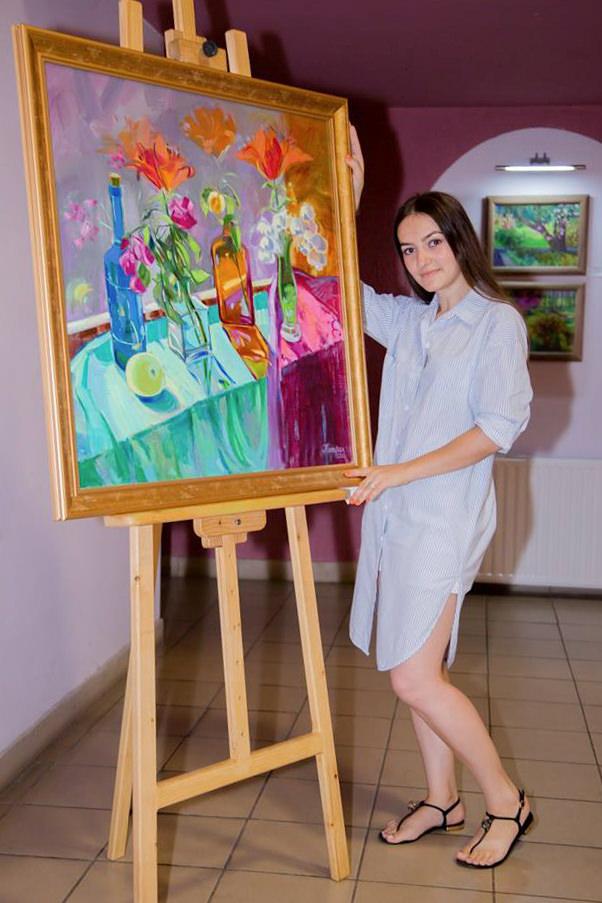 У Берегові презентували першу персональну експозицію Ярослави Катран