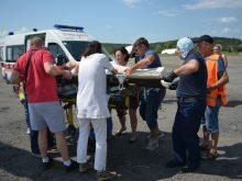 Вертоліт ДСНС транспортував двох вагітних до обласної лікарні в Ужгороді