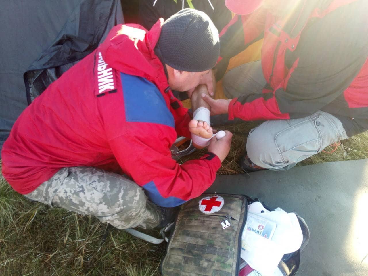 Гірські рятувальники надали допомогу туристу з Польщі