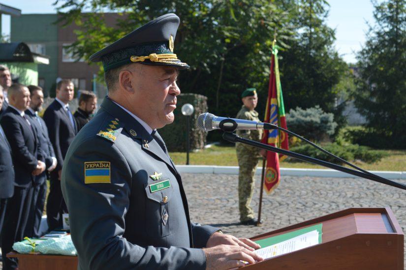 Голова ДПС вручив прикордонникам Мукачівського загону іменну стрічку до бойового прапора