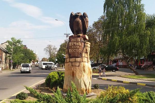 Орел «приземлився» у Тячеві