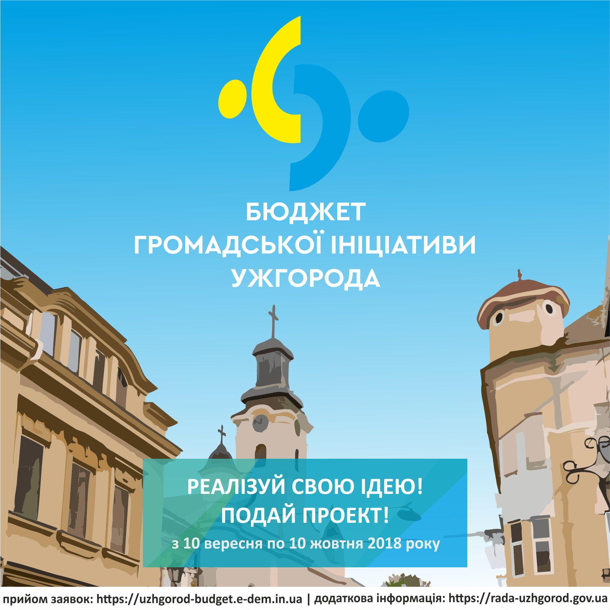 В Ужгороді знову стартує Бюджет громадської ініціативи