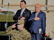 День захисника України в Ужгороді відзначали з прямим включенням із столичної Софіївської площі