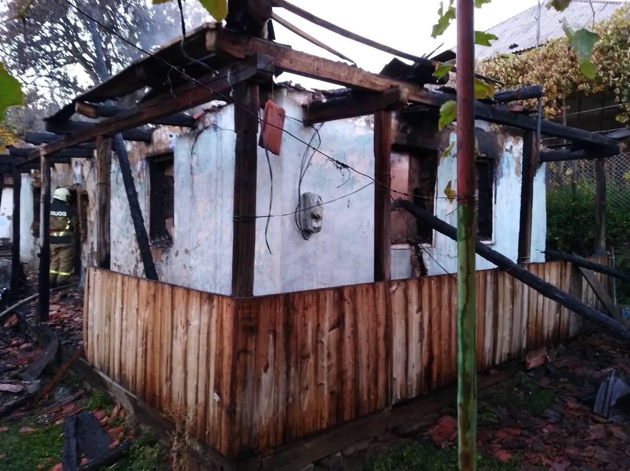 В Ужгородському районі під час пожежі травмувався чоловік