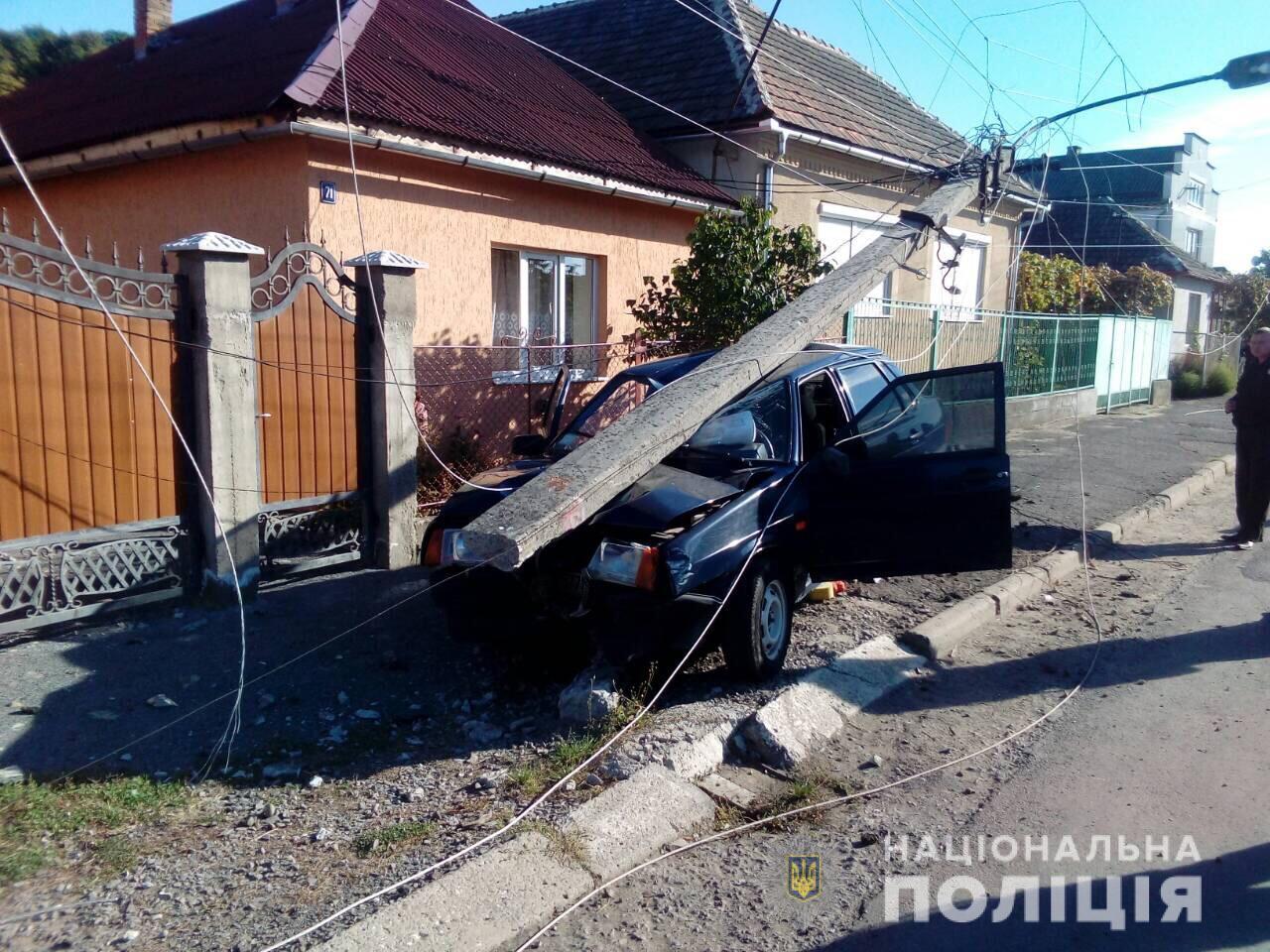 За фактом автопригоди в Мукачеві поліція розпочала слідство