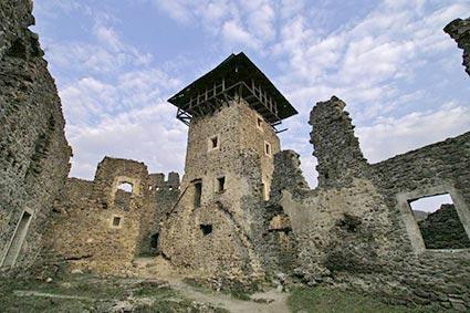 У Невицькому замку шквальний вітер повалив аварійну вежу