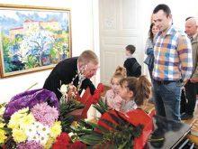 Василь Вовчок до 60-ліття розгорнув виставку картин