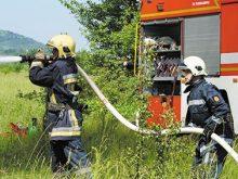 Протипожежні відпрацювання на Берегівщині провели лісівники та рятувальники