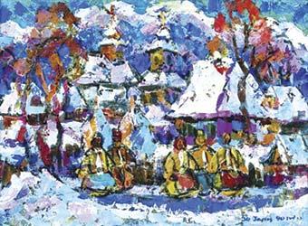 Різдво на полотнах закарпатських художників