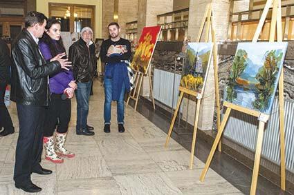 Українсько-словацька виставка відкрилася в атріумі облдержадміністрації